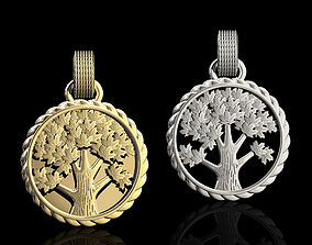 Tree pendant 3D print model printable