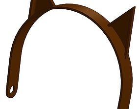 graphic relating to Printable Cat Ears identified as Cat ears 3D Designs CGTrader