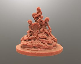 Fountain with three putts 3D print model