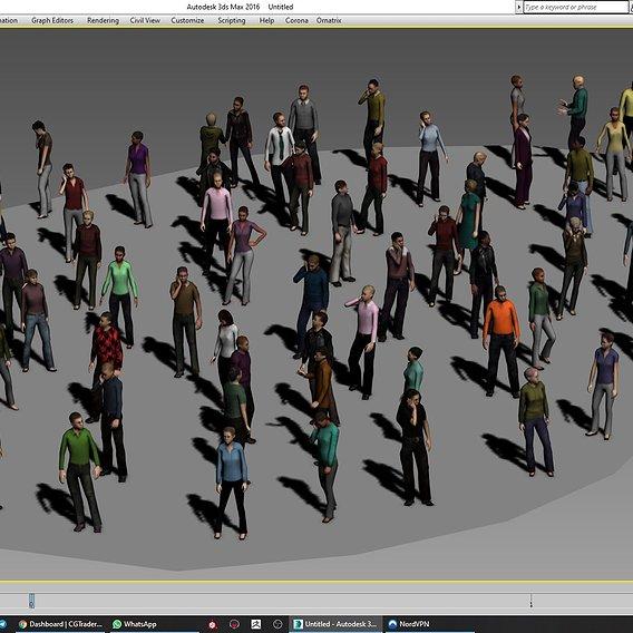 69 Lowpoly People 3d model Low-poly 3D model