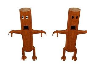 3D asset Monster Log Character