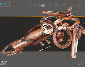 Drone V2 - The Wood - Animated 3D asset