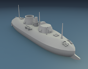 3D printable model USS Keokuk 1863