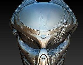 Fugitive Predator damaged bio mask 3d model