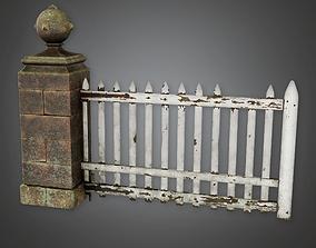 3D asset Outdoor Gate 05 GFS - PBR Game Ready