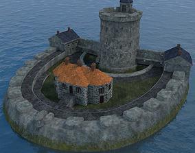 3D XVIIIth Century coastal fortress