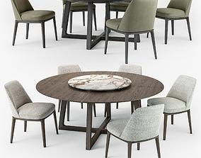 3D model Poliform Sophie chair Concorde round table set
