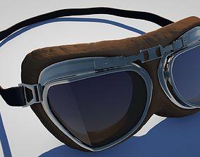 3D model Vintage Aviator Pilot Goggles