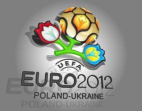 3D model Amimated logo Euro 2012