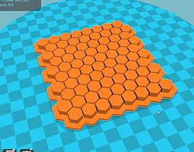 3D printable model Stl file Fondant honeycombs Embosser 1