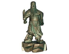 Guan Gong 3D printable model 3D asset