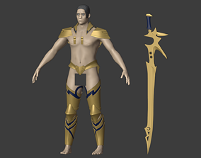 Gilgamesh armor and sword from Fate 3D printable model