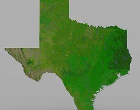 topology Texas State in 3ds and obj format