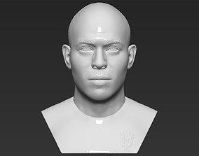 Ronaldo Nazario Brazil bust 3D printing ready stl obj