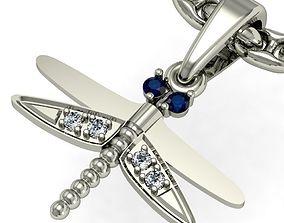 3D print model beautyful pendant dragonfly