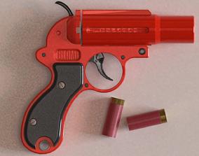 flare gun 3D asset game-ready