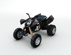 3D asset 2007 Polaris Outlaw 525 ATV