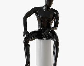 3D model Faceless male mannequin 07