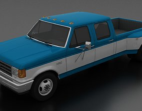 F-350 XL Pickup DRW CrewCab 1987 3D model