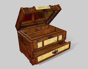 Vintage Jewelry Box 3D asset VR / AR ready