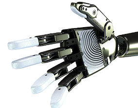 3D model animated machine Robot Hand