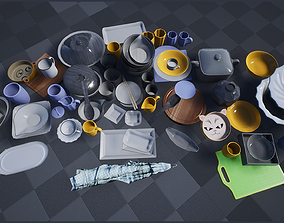 Tableware and Dishes Package 3D asset
