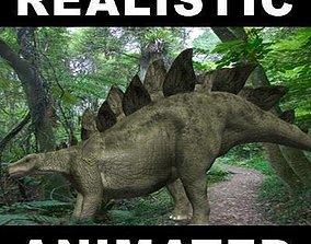 Amazing stegosaur - 3d model animated