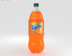 Fanta Bottle 2 Litre 3D model