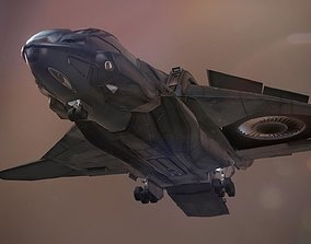 The Quinjet - Game Mesh 3D model