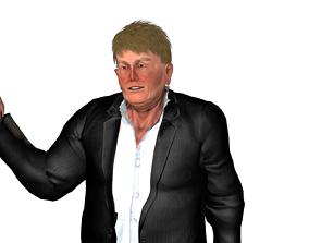 Donald T 3D model