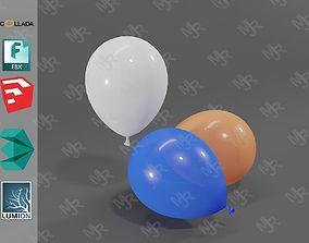 Balloons 3D model VR / AR ready