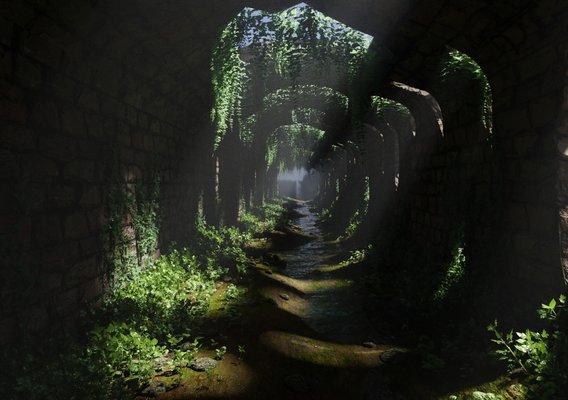 Tunnel Ruins Scene | Scene 48