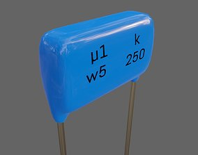 Polyester Capacitor - Electronic parts 3D model