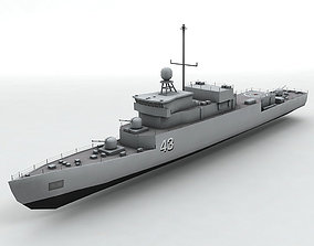 Meko 140 Corvette Military Frigate Ship 3D model