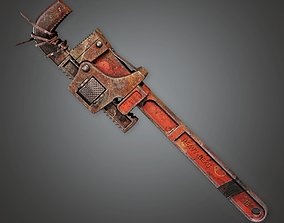 Modded Monkey Wrench 01a - PAM - PBR Game Ready 3D asset