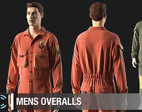 3D model Mens overalls Marvelous Designer