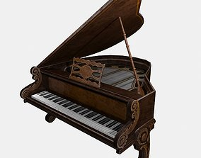 Piano 3D model low-poly
