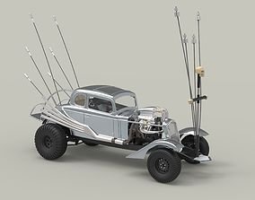 3D model Nux car from Mad Max Fury road
