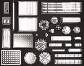 3D model Sci Fi Light Kitbash