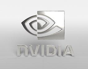 3D model Nvidia Logo v1 003
