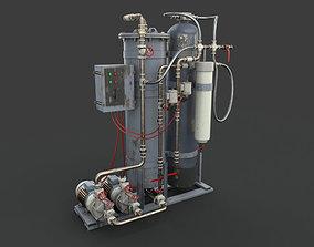 3D Industrial oil water separator