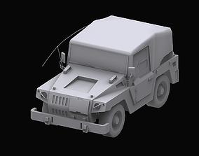 3D Gundam EF Jeep model