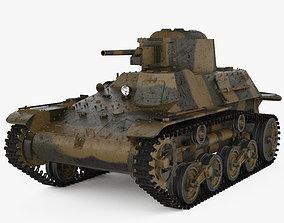 Type 97 Te-Ke tankette 3D