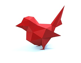 3D print model low poly bird geometric