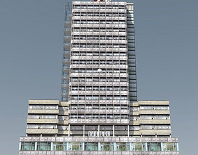 3D asset Modernist Highrise