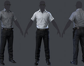 3D asset game-ready man-1 - clothing-1
