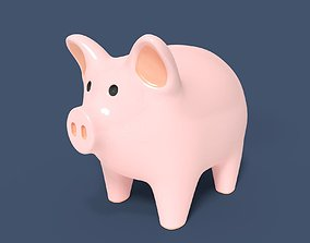 Cartoon Pig 3D model toy