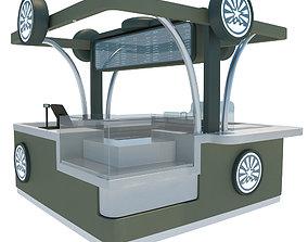 Victorian Subway Kiosk 3D model