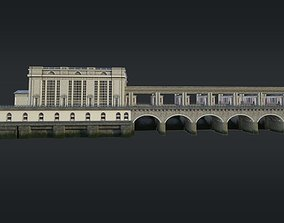 3D model Hydroelectric station Uglich