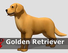 Toon Golden Retriever 3D asset